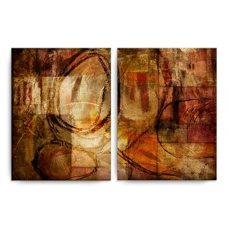 Link to Ready2HangArt 'ETABX III' 2-Pc Rustic Abstract Canvas Art Set Similar Items in Matching Sets