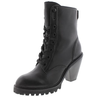 Kelsi Dagger Womens Breda Combat Boots Lace-Up Chunky Heel