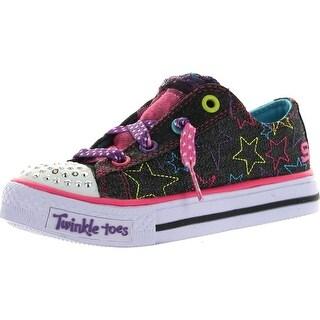 Skechers Girls 10418L Bkmt Shuffles-Sweet Twirl Fashion Sneakers
