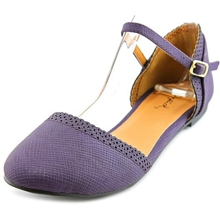 Qupid Palmer 161 Women Round Toe Synthetic Flats