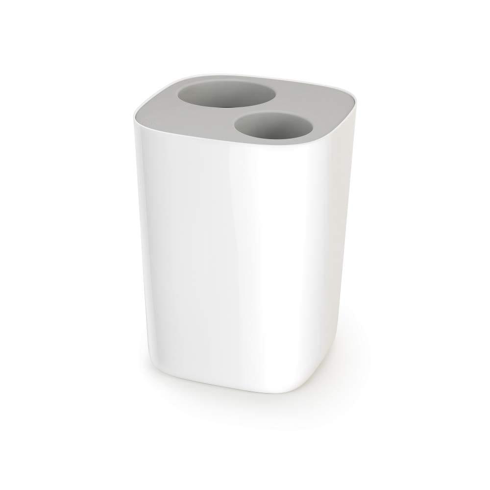 Joseph Joseph 70514 Split Trash Can Recycle Bin Dual Compartments Removable Bucket 2 Gallon 8 Liter Gray On Sale Overstock 29962810