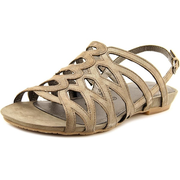 Gerry Weber Beach 01 Women Open-Toe Leather Gray Slingback Sandal