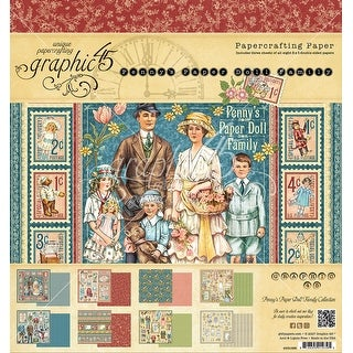 """Graphic 45 Double-Sided Paper Pad 8""""X8"""" 24/Pkg-Penny's Paper Doll, 8 Designs/3 Each"""