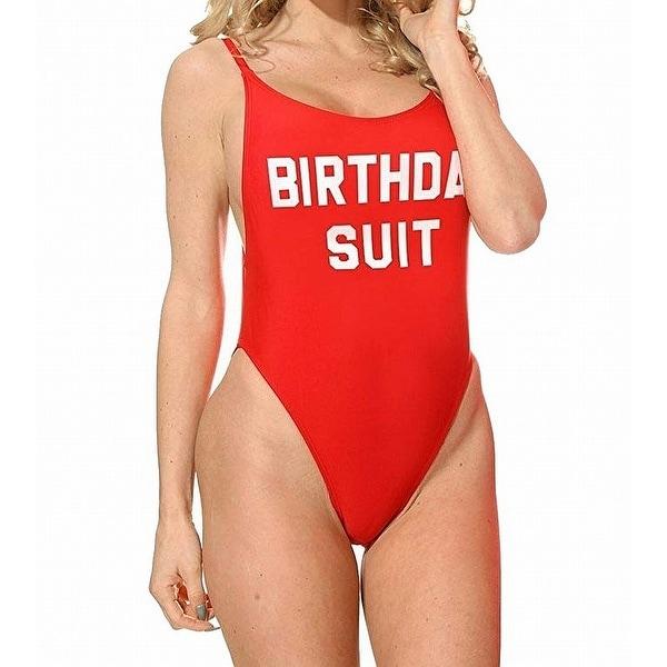 1cec27f6a3a Shop DIPPIN DAISY S Red Women s Medium M Birthday Suit High Cut ...
