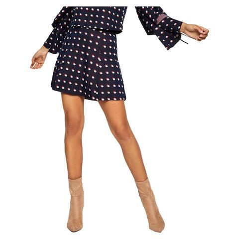 BCBGeneration Womens A-Line Skirt Printed Polka Dot