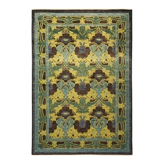 """Link to Arts & Crafts, One-of-a-Kind Hand-Knotted Area Rug  - Black, 5' 9"""" x 8' 9"""" - 5' 9"""" x 8' 9"""" Similar Items in Kids' & Toddler Furniture"""