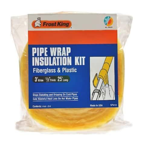 """Frost King SP41X Fiberglass Pipe Insulation Kit, 3"""" x 1/2"""" x 25'"""