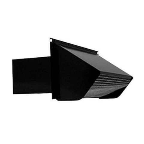 "Broan 639 Wall Cap Duct, 3-1/4"" x 10"", Black"