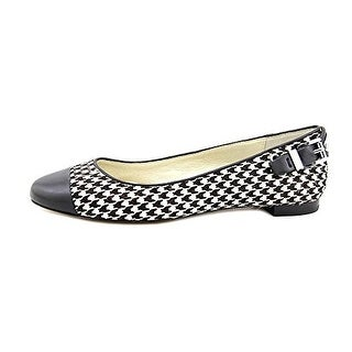 Michael Kors Women's Houndstooth Dion Haircalf Ballet Flats