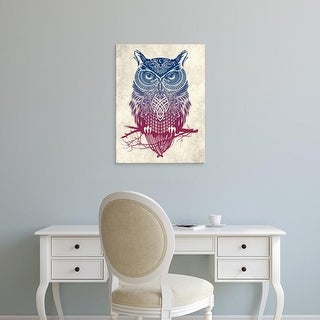 Easy Art Prints Rachel Caldwell's 'Warrior Owl' Premium Canvas Art