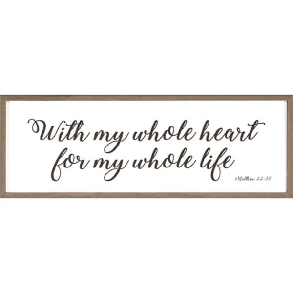 "White and Black Bible Verse Printed Framed Rectangular Wall Art Decor 5"" x 13.25"" - N/A"