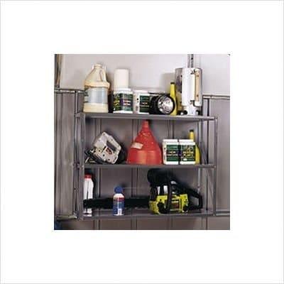 Arrow Shed SS900-B Three Tier Shelf Kit - gray