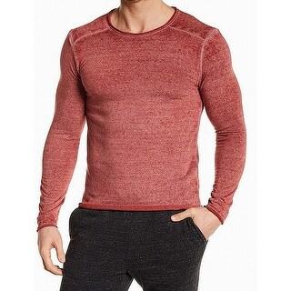 Threads 4 Thought Red Mens Size Medium M Fleece Burnout Shirt