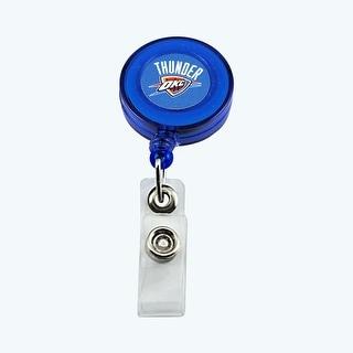 Oklahoma City Thunder Retractable Badge Reel Id Ticket Clip NBA
