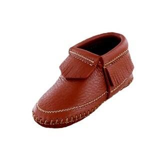 Minnetonka Boots Boys Riley Bootie Deerskin Leather Fringe