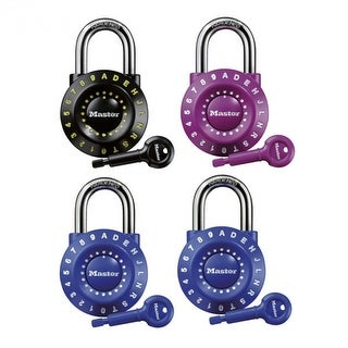 Master Lock 1590D Resettable Combination Padlock, Assorted Colors