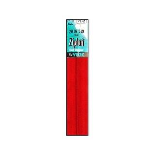 "YKK Ziplon Coil Zipper 20"" Red"