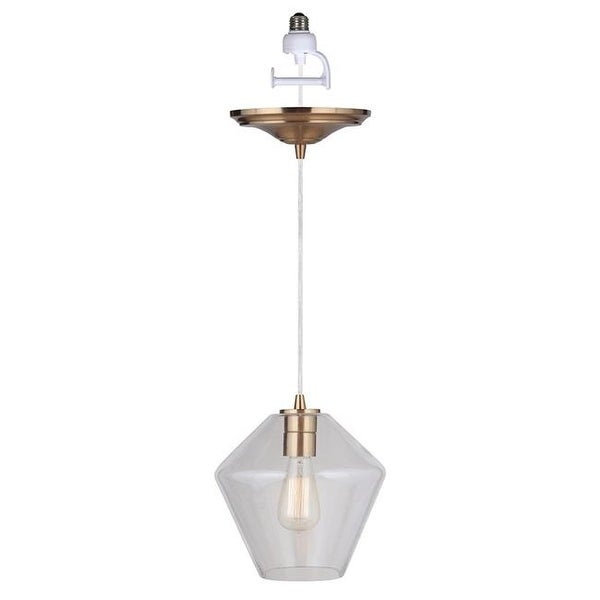 Instant Pendant Recessed Light Conversion Kit With Geometric Clear Free Shipping Today 24811120