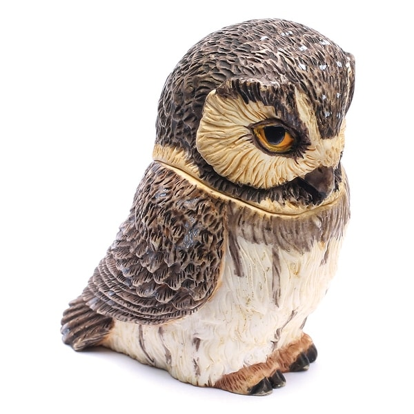 Owl Pot Bellys Box - Boreal Owl - Free Shipping On Orders Over $45 Boreal Owl Design House on saw-whet owl house, great horned owl house, barred owl house, eastern screech owl house, western screech owl house,
