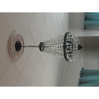 Symmetric 6 Light Antique Copper Chandelier 14259802
