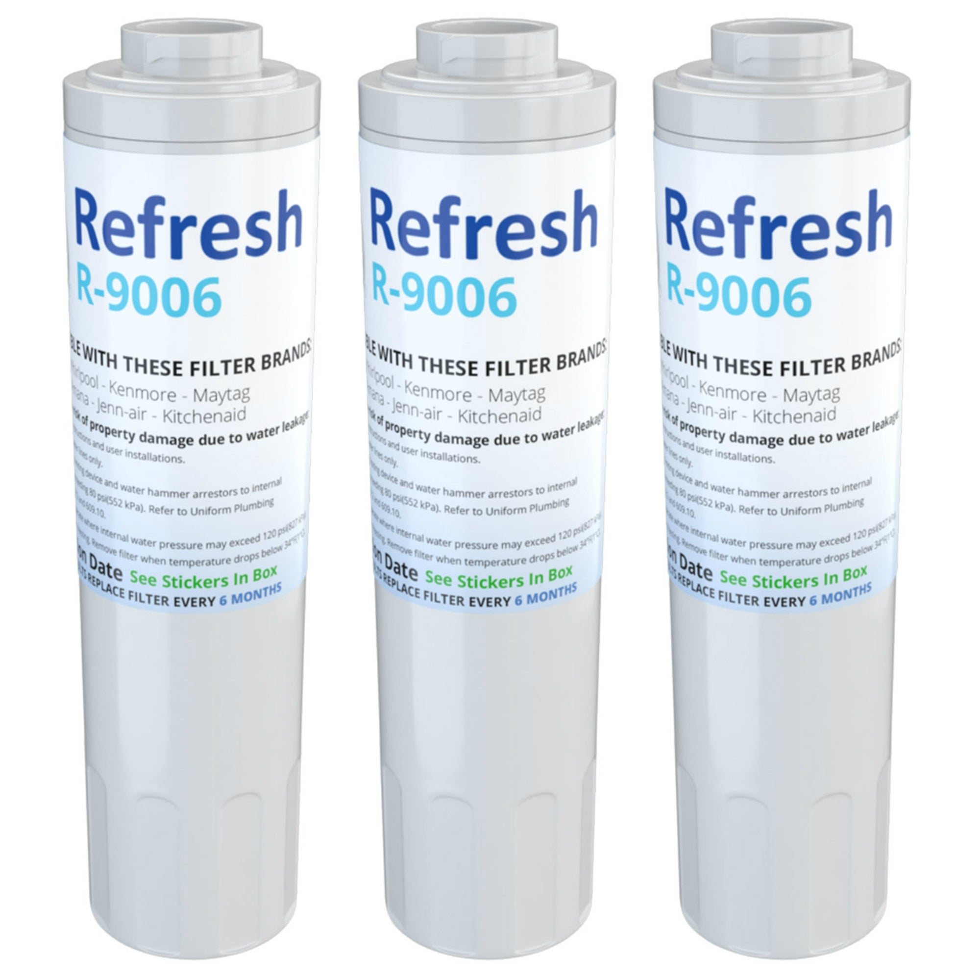 3 Packs Replacement Water Filter for Maytag WRX735SDBM00 Refrigerator