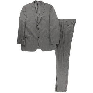 Mark New York Mens Wool 2PC Two-Button Suit