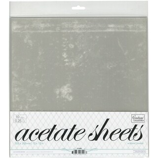 "Couture Creations Acetate Sheets 12""X12"" 10/Pkg-.25Mm"