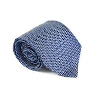 Etro Mens Blue 100% Silk Geometric Print 3.25 In Standard Tie - M