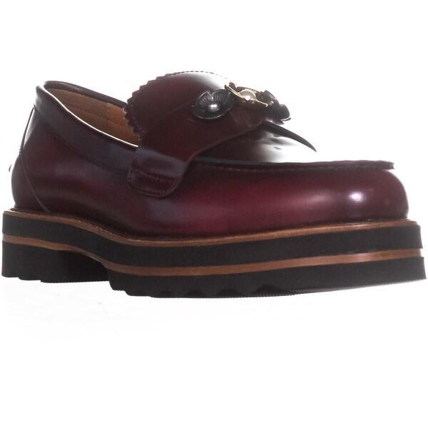 Coach Lenox Loafer Platform Loafers, Cabneret - 8.5 us