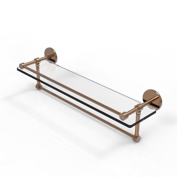 Allied Brass Gallery Glass Shelf with Towel Bar