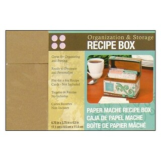 Darice Paper Mache Recipe Box 6.75x3.75x4.5""