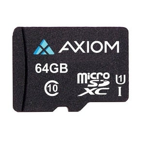Axiom Memory Solution,Lc - Axiom 64Gb Microsdxc Class 10 (Uhs-I U1) Flash Card