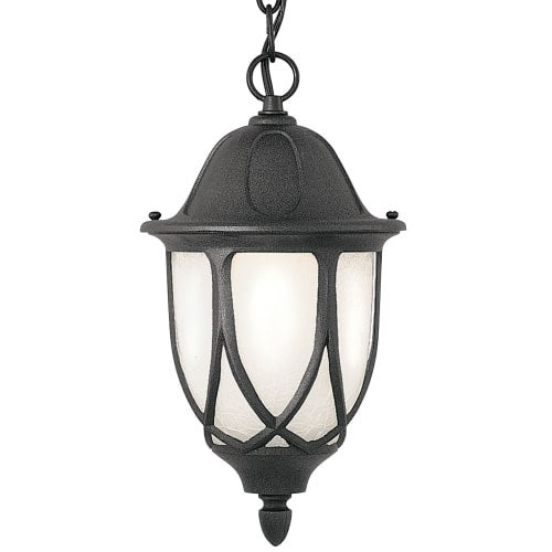 "Designers Fountain 2864-BK 1 Light 11"" Cast Aluminum Hanging Lantern from the Capella Collection"