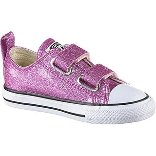 Converse Girls Chuck Taylor All Star Velcro Oxford, Bright Violet/Natural/White