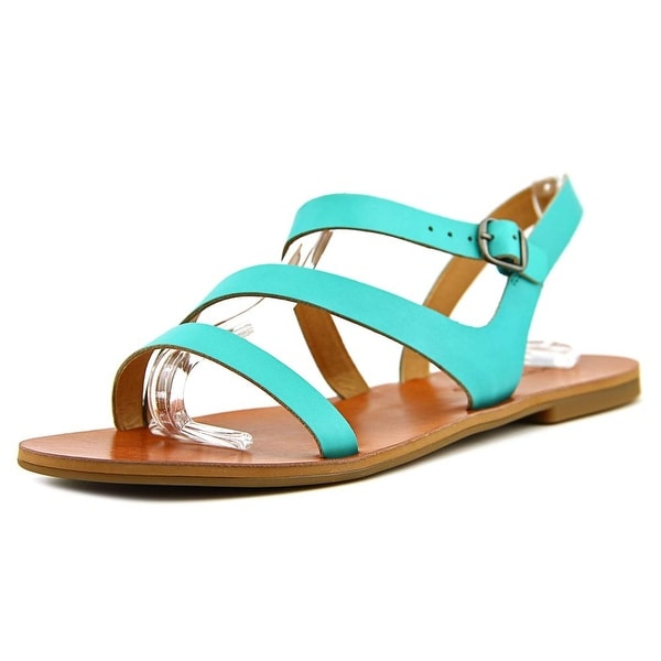 Lucky Brand Alexcia Women Open-Toe Leather Blue Slingback Sandal