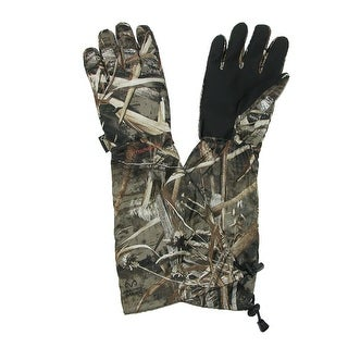 Manzella Men's Gore-Tex Realtree Max 5 Hunting Gloves with Extended Cuff - realtree max 5 camo