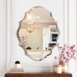 Link to Mirror Trend Beveled Accent Frameless Wall Mirror - 22*28 Similar Items in Decorative Accessories