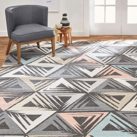 Home Dynamix New Weave Folger Contemporary Geometric Area Rug