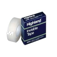 Highland 6200 Invisible Tape, 0.50 Inch x 36 Yards, Matte