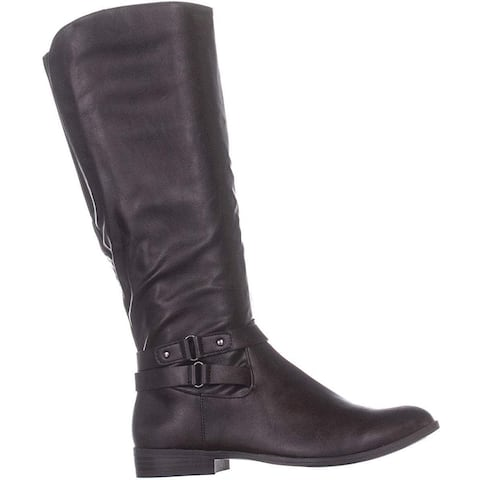Style & Co. Womens Kindell Leather Closed Toe Mid-Calf Cold Weather Boots