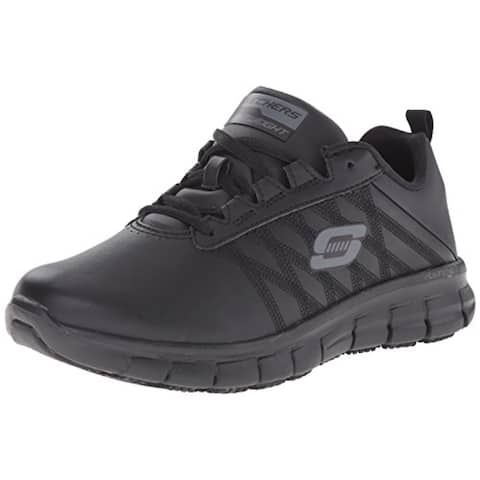 Skechers for Work Women's Sure Track Erath Athletic Lace Work Boot, Black