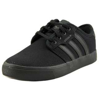 Adidas Seeley J Youth Round Toe Canvas Black Skate Shoe