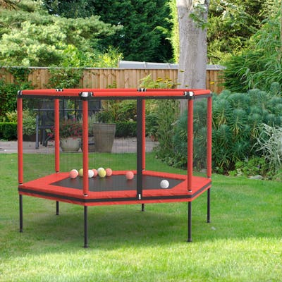 Hexagon Kid Trampoline with Safety Enclosure