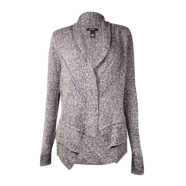 Alfani Women's Marled Shawl Collar Cardigan Sweater (M, Grey Combo) - grey combo - m