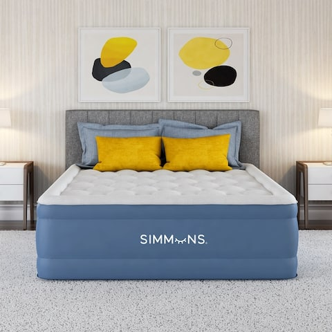 Simmons Rest Aire Raised Air Mattress with Inset Pump