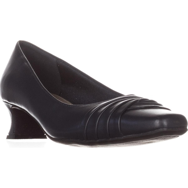 Easy Street Tidal Square Toe Kitten Pumps, Navy