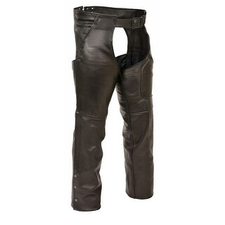 Mens Leather 3 Pocket Chaps with Thigh Patch Pocket (More options available)
