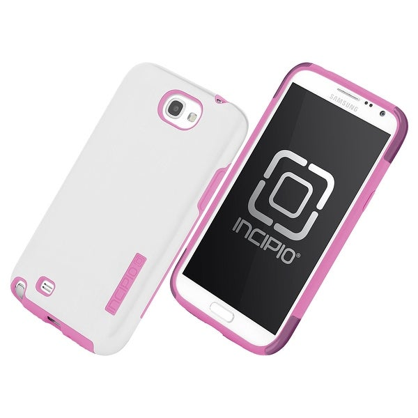 Incipio DualPro Shine Case for Galaxy Note 2 (White/Pink)