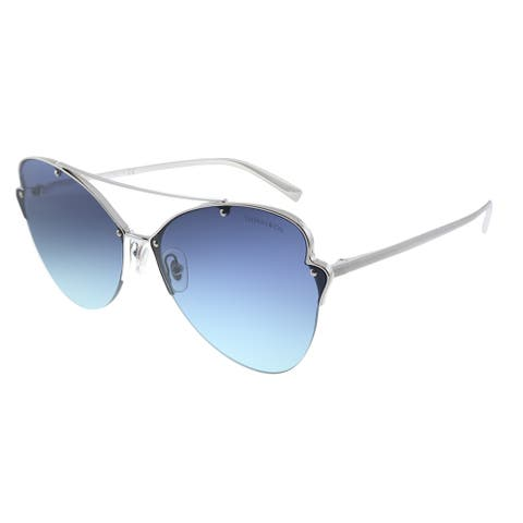 Tiffany & Co. TF 3063 60019S Womens Silver Frame Blue Gradient Lens Sunglasses
