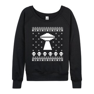 Alien Ugly Christmas Style - Ladies Lightweight French Terry Pullover